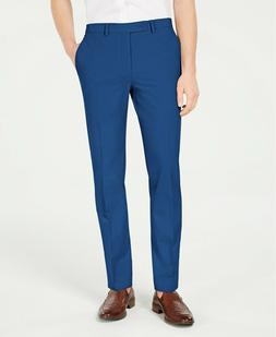 $125 Calvin Klein Mens 34 w 32 Blue Slim-Fit Stretch Washabl