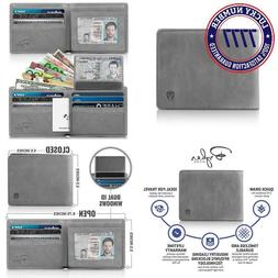 2 Id Window Rfid Wallet For Men, Bifold Top Flip, Extra Capa