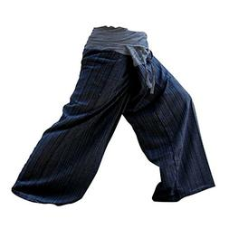 LannaPremium 2 Tone Thai Fisherman Pants Yoga Trousers Free
