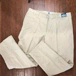 LEE 38X30 KHAKI PANTS TOTAL FREEDOM RELAXED FIT FLEX 2 FIT P