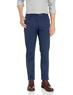 Calvin Klein Men's 5 Pocket Stretch Pant, Marin Mist, 32x34