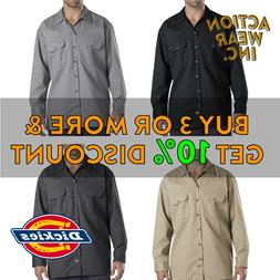 DICKIES 574 MEN'S LONG SLEEVE BUTTON FRONT SHIRT WORK SHIRTS
