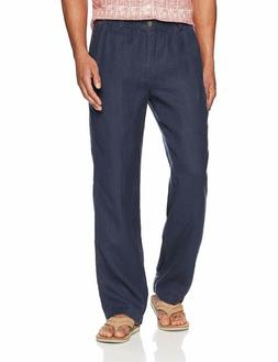 Amazon Brand - 28 Palms Men'S Relaxed-Fit Linen Pant With Dr
