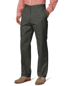 IZOD Men's American Chino Flat Front Pant, Olive, 40W x 34L