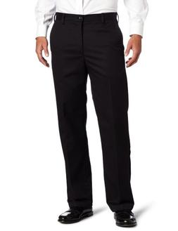 IZOD Straight Fit American Chino Flat Front Pants 38x30, Bla