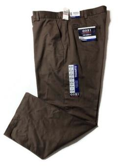 IZOD American Chino Mens 40 x 30 Brown Straight Fit Pants Wr