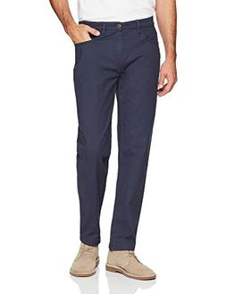 Goodthreads Men's Athletic Fit 5-Pocket Chino Pant, Navy, 30