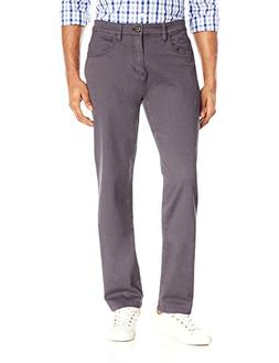 Goodthreads Men's Athletic Fit 5-Pocket Chino Pant, Grey, 34