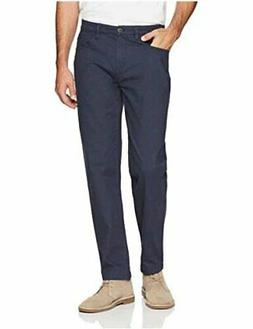 Goodthreads Men's Athletic Fit 5-Pocket Chino Pant, Navy, 33