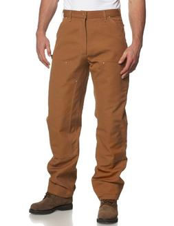 CARHARTT B01 Brown 34 32 Double Front Work Pants, Brown, Siz