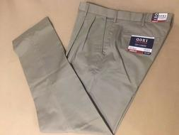 Big & Tall IZOD American Chino Classic Fit PLEATED Front Pan