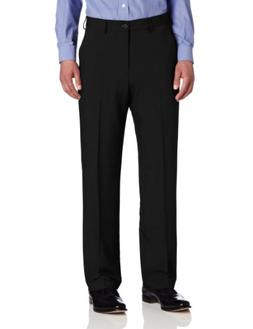 Van Heusen Men's Flat Front Straight Fit Crosshatch Pant, Bl