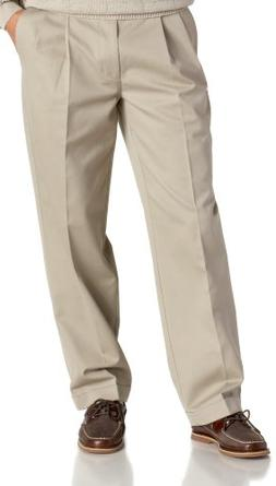 IZOD Men's Big and Tall Pleated Extended Twill Pant, Olive,