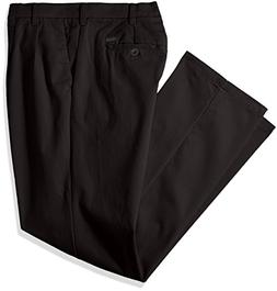 IZOD Men's Big and Tall Performance Stretch Pleated Pant, Bl