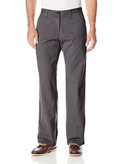 Lee Men's Big-Tall Weekend Chino Straight Fit Flat Front Pan