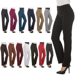 Bootcut Dress Pants for Women -Stretch Comfy Work Office Pul
