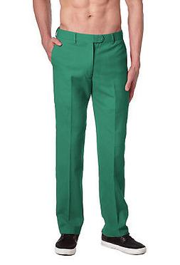 CONCITOR Brand Men's EMERALD GREEN Dress Pants COTTON Flat F