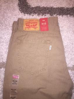 BRAND NEW Levis 514 Mens Straight Khaki Pants  #005140692