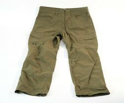 Under Armour cargo pants mens 34 loose green nylon hiking
