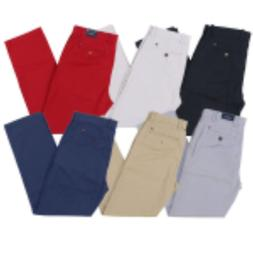 Tommy Hilfiger Chino Pants Mens Tailored Fit Flat Front Flag