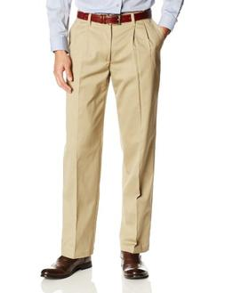 Lee Men's Comfort Waist Custom Relaxed Fit Pleated Pant,Trad