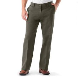 Lee Men's Comfort Waist Custom Relaxed Fit Flat Front Pant,D