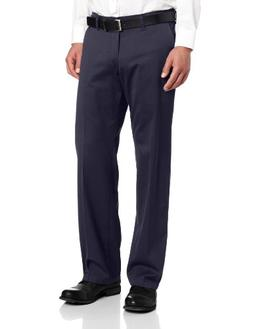 Lee Men's Comfort Waist Custom Straight Fit Flat Front Pant,