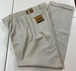 DOCKERS Easy Khaki Relaxed Fit Stretch Pleated Cuffed Pants