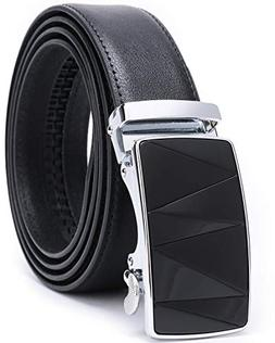 Fashion Men Belts Leather Ratchet Slide Belt with Automatic