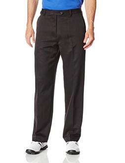 IZOD Men's Flat Front Classic Fit Microsanded Golf Pant, Sto