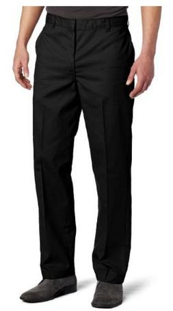 Dickies Men's Flat Front Pant, Black, 30X34