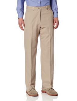 Van Heusen Men's Flat Front Straight Fit Chevron Pant, Charc