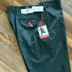 Van Heusen FLEX Dress Pants NWT Mens 36WX36L Gray Flat Front