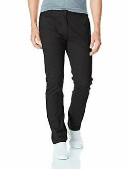 Southpole Men's Flex Stretch Basic Long Chino Pants, Black,
