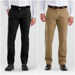 HAGGAR H26 Sustainable STRAIGHT FIT Stretch CHINO Pants KHAK