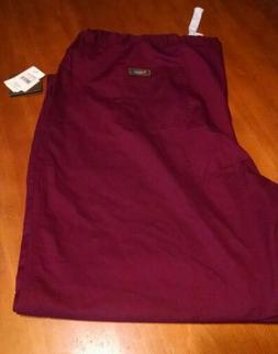ICU by barco mens 5 pocket scrub pants wine 5xl new with tag