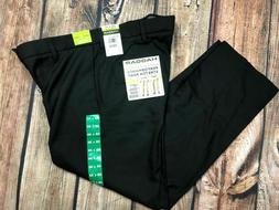 Haggar in Motion Straight Fit Pants Stretch Black Wicking Wr