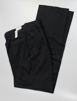 Jos. A. Bank Traveler's Big & Tall Pleat Dress Pants Navy ST