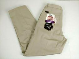 Lee Khaki Pants Mens 32x30 Plain Front Navy Cotton Stain Wri