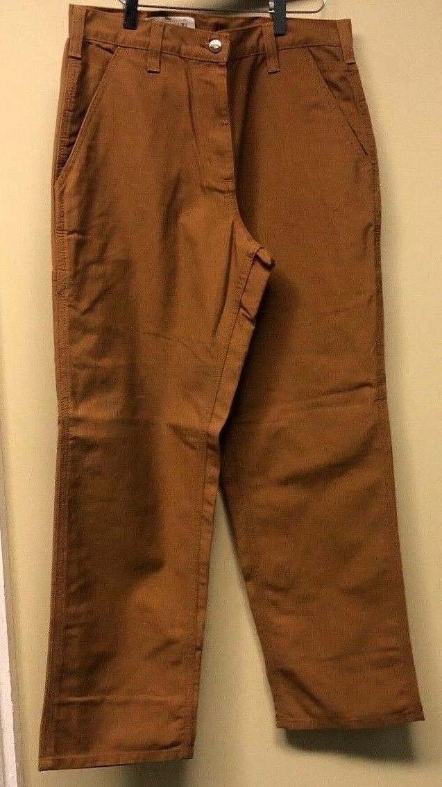 Carhartt 383-51 Duck Brown Canvas Dungaree Fit Work Pants 38