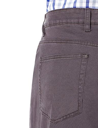 Goodthreads Athletic 5-Pocket Pant, Grey, 34W x