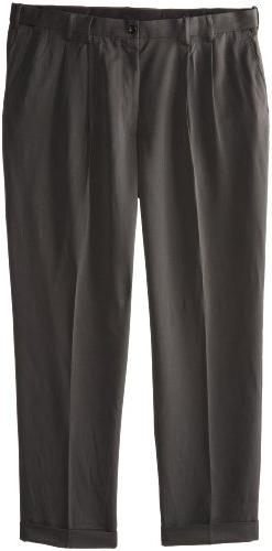 IZOD Men's Big and Tall Ultimate Traveller Pant, Charcoal, 4