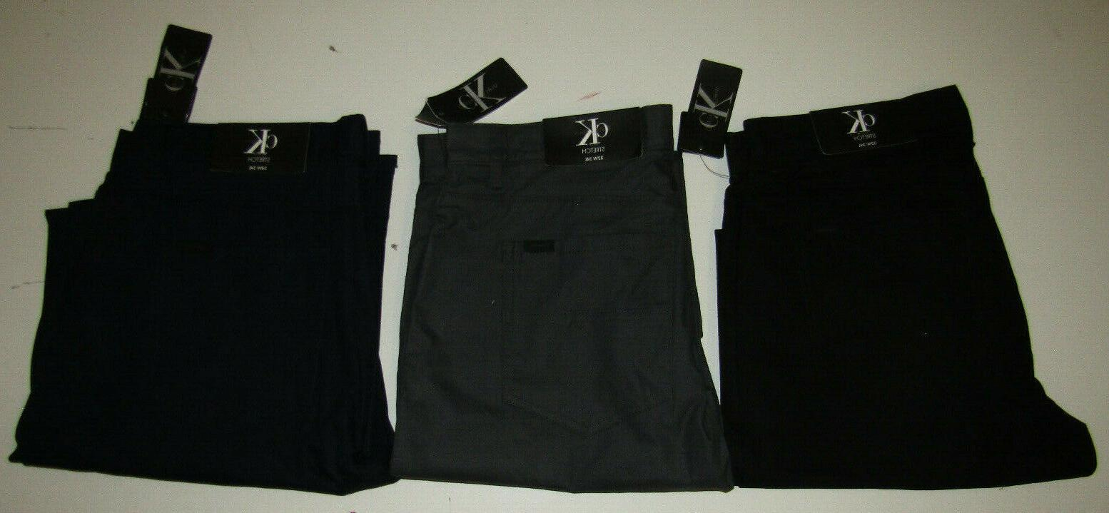 CALVIN Casual Slim Pants Black Gray 34 36