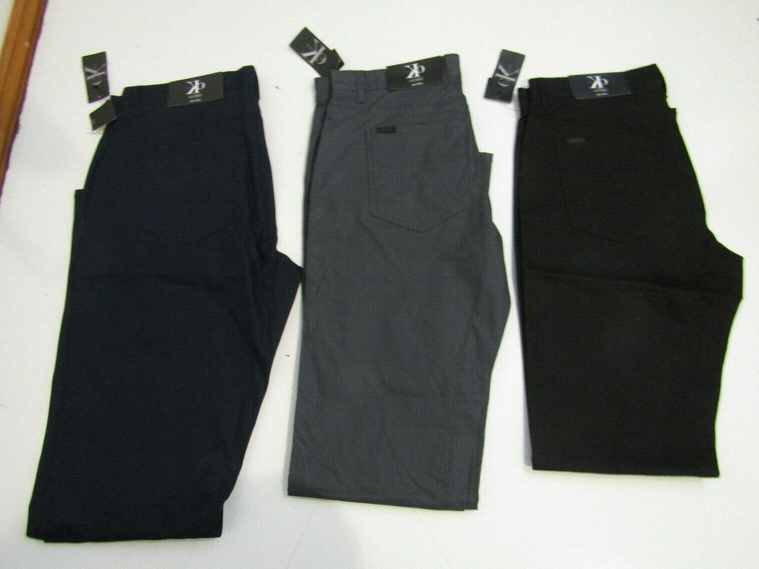 casual stretch slim fit pants black gray