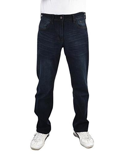 comfort stretch straight fit jeans