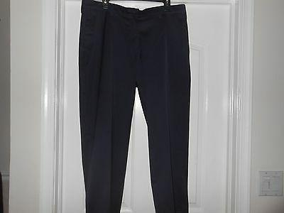 LEE CUSTOM FIT NAVY PLAIN FRONT, 2 BACK POCKETS, MENS PANTS