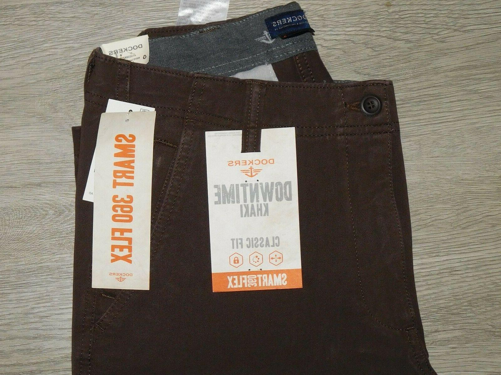 DOCKERS Classic Fit Smart 360 Stretch Smokey