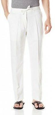 Drawstring Pant with Back Elastic Waistband, Bright White, L