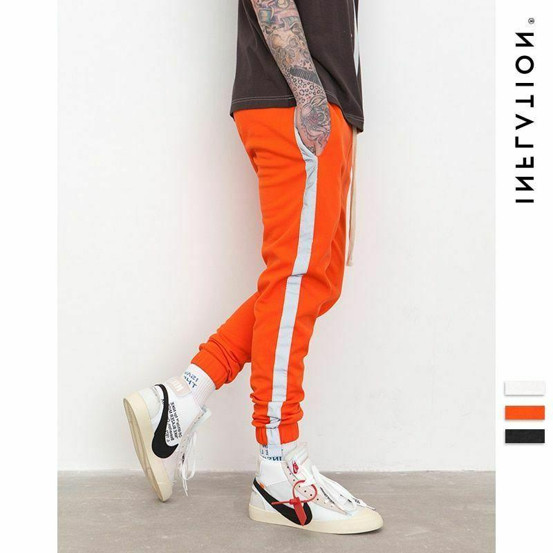 INFLATION Striped Reflective Pant Mens 2018 Hip Hop Casual J