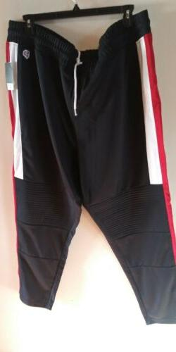 Southpole Jogger Trackpants Navy Blue Red White Stripes NWT